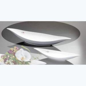 Vaso barchetta bianco porcellana