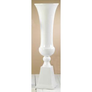 Calice con base vetroresina bianco