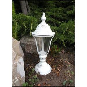 lampione metallo antik white 42