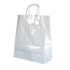 Shopper smart met. 34x40 bianco (25pz)