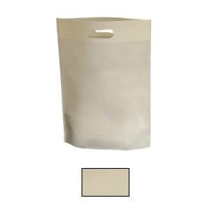 Shopper TNT etoffe 30x39 crema (10pz)