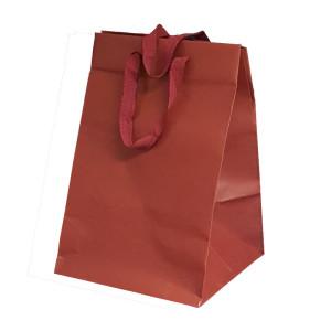 Shopper carta lusso 23x35 bordeaux (10pz)