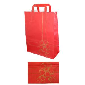 Shopper fiocco 45x49 rosso (25pz)