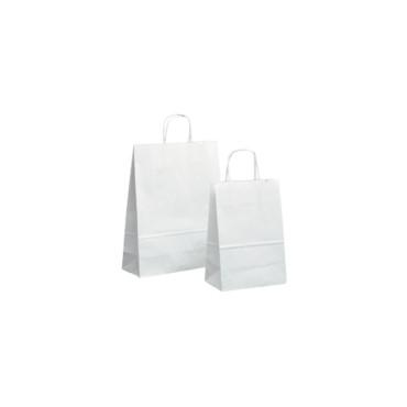 Shopper 16×21 carta bianco (pz.25)