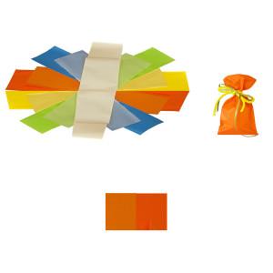 Buste 8x15 perlato bicolor arancione (50pz)