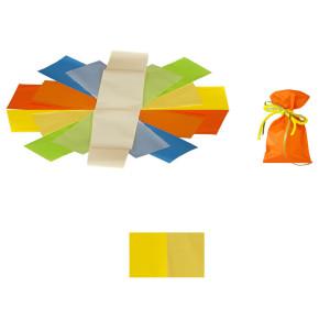 Buste 8x15 perlato bicolor giallo (50pz)
