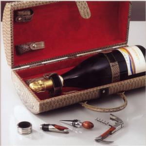 Cassetta pelle ecol. 1 bottiglia Magnum