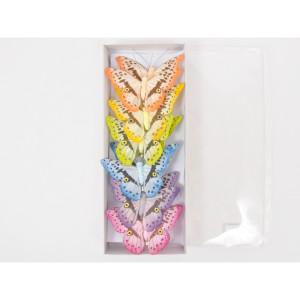 Clip farfalle 9,5 cm. (12 pz.)