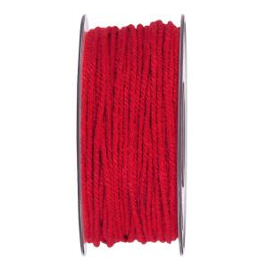 Cordino cotone mm. 3x50 mt rosso