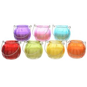 Candela citronella in vasetto vetro