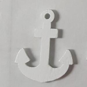 Ancora legno cm. 3 stickers bianco (12 pz.)
