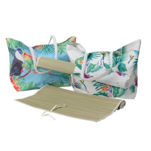 Borsa con stuoia tropical