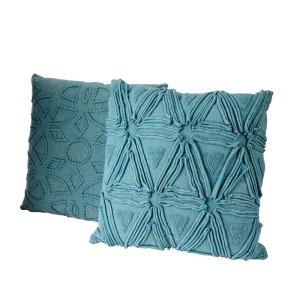 Cuscino cotone 45x45 blu