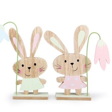 Coniglio legno h.20 (pz.4)