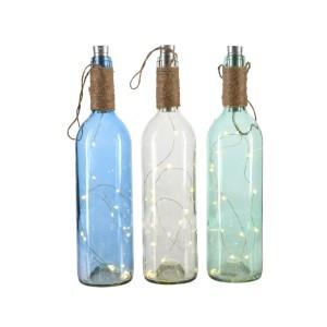 Bottiglia con LED h.31 (pz.3)