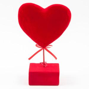cuore con base cm.17
