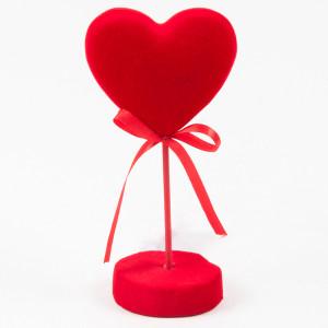cuore con base cm.8