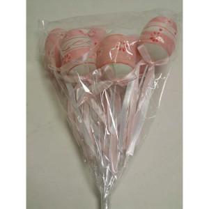 Uova pick cm.06 rosa (pz.6)