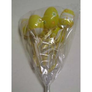 Uova pick cm.06 giallo (pz.6)