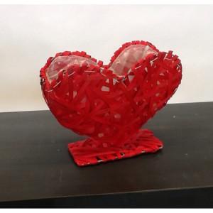 Cesto cuore rossco 28x11