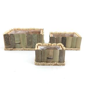 BC-Cesto quadro legno (set 3)