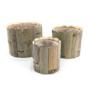 BC-Cachepot tondo legno d.13 (set 3)