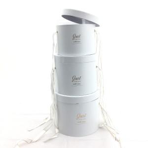 Scatola regalo cilindro bianco (set 3)