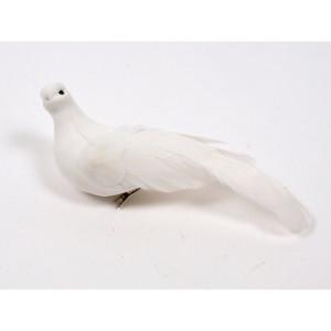 Clip colomba bianca 23 cm. (6 pz.)