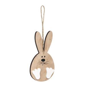 Coniglio legno naturale cm.12 (pz.3)
