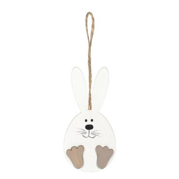 Coniglio legno bianco cm.12 (pz.3)