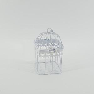 Gabbietta quadra h.18 bianco