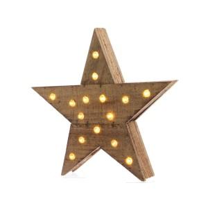 Stella legno LED cm.40
