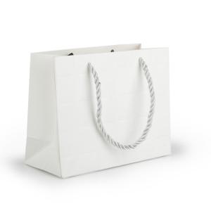 Shopper carta 13x17 bianco (pz.15)