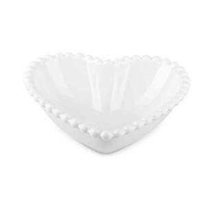 Ciotola cuore cm.13 bianco (pz.8)