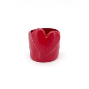 CFU-Cachepot cuore d.09 rosso