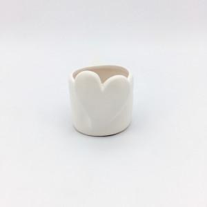 CFU-Cachepot cuore d.09 bianco