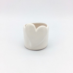 CFU-Cachepot cuore d.10,5 bianco