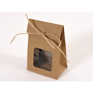 borsa con finestra 09x06 avana (pz.12)