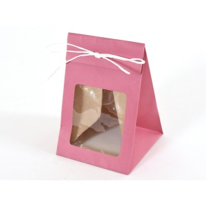 borsa con finestra 08x08 fucsia (pz.12)