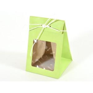 borsa con finestra 08x08 verde (pz.12)