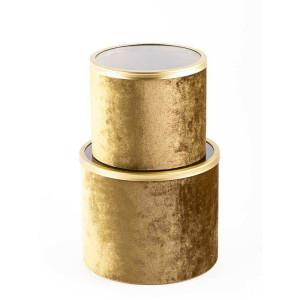 Scatola cartone d.21 oro (set 2)
