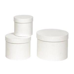 Scatola cilindro d.23 bianco (set 3)