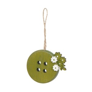 Bottone con fiori diam.05 verde (pz.6)