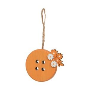 Bottone con fiori diam.05 arancio (pz.6)
