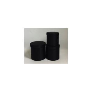 Scatola cilindro d.20 nero (set 3)