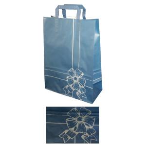 Shopper fiocco 27x37 blu (25pz)