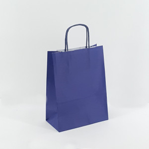 Shopper 16x21 carta col. blu (pz.25)