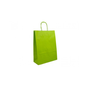 Shopper 16x21 carta col. verde acido (pz.25)