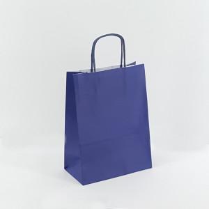 Shopper 22x31 carta col. blu (pz.25)