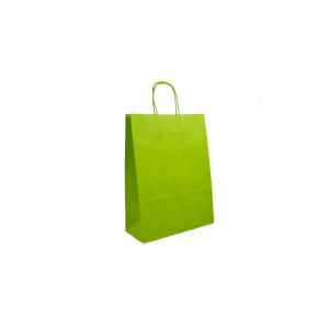 Shopper carta col. 22x31 verde acido (pz.25)